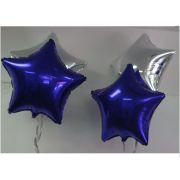 Balao Metalizado Estrela Azul 18 Polegadas