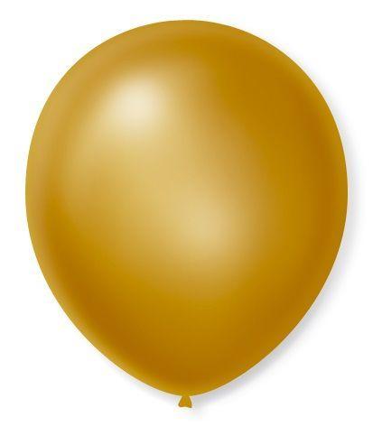 Balao N°7 Cintilante Dourado 50 Un