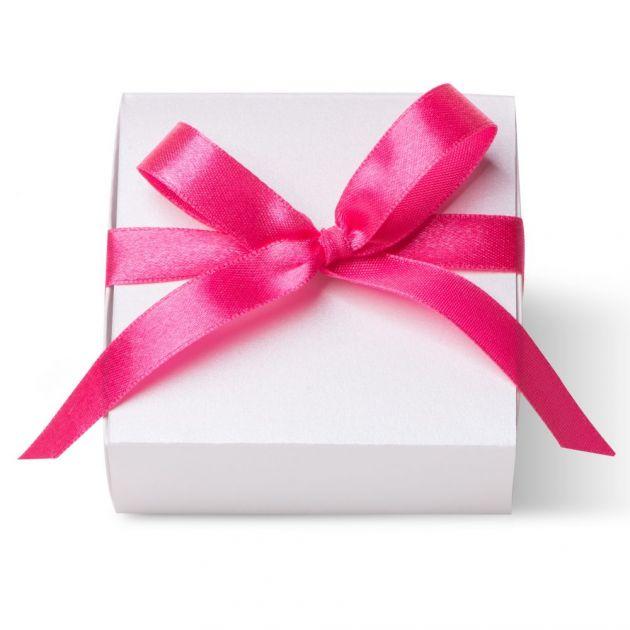 Caixa Para Lembrancinha Quadrada Branco Laco Pink