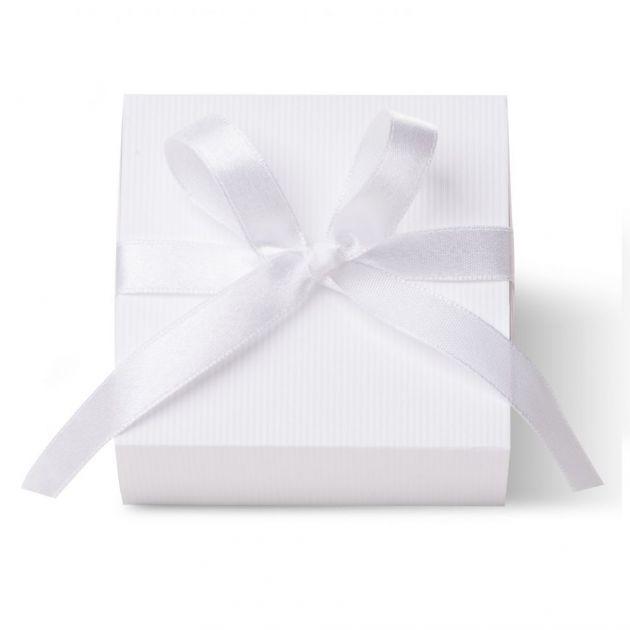 Caixa Para Lembrancinha Quadrada Cetim Branco