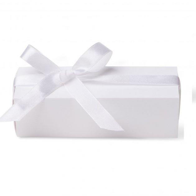 Caixa Para Lembrancinha Retangular Cetim Branco