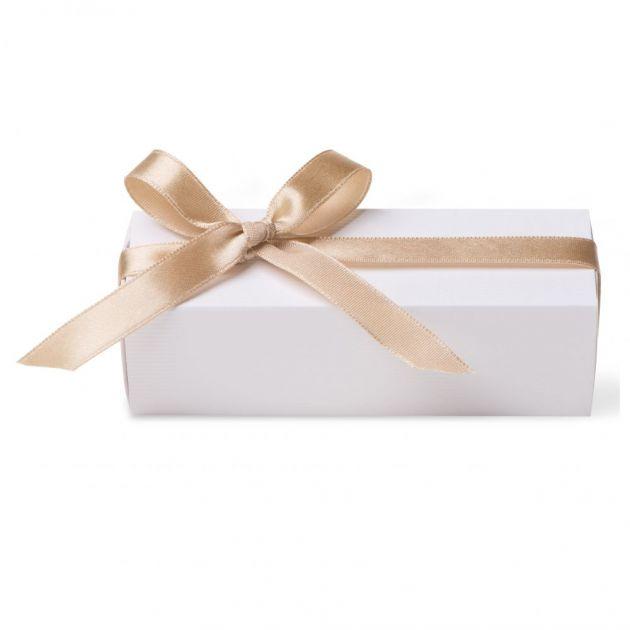 Caixa Para Lembrancinha Retangular Cetim Dourado