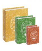 Kit Livro Caixa Caveira Mexicana - 3 Pecas